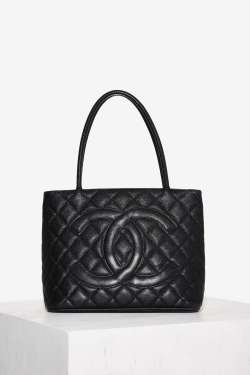 Vintage Chanel Marie Medallion Leather Tote Bag