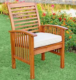 Walker Edison Solid Acacia Wood Patio Chairs