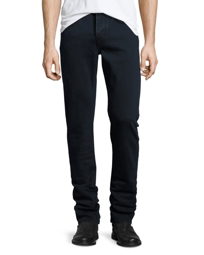 Burberry Straight-Fit Dark Indigo Clean Wash Stretch Jeans