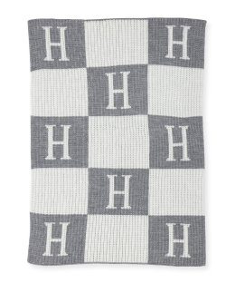 Butterscotch Blankees Personalized Check Colorblock Baby Blanket