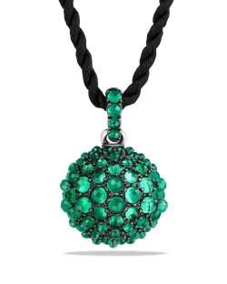 David Yurman 20mm Osetra Faceted Green Onyx 42″ Pendant Necklace