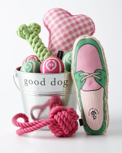 Harry Barker Preppy Pub Dog Toys Gift Bucket