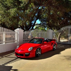 Porsche 911 Carrera 800HP Turbo Cabriolet 2008 Convertible Red Sports Car