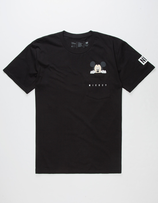 NEFF Disney Collection Peek Mickey Black Pocket Tee