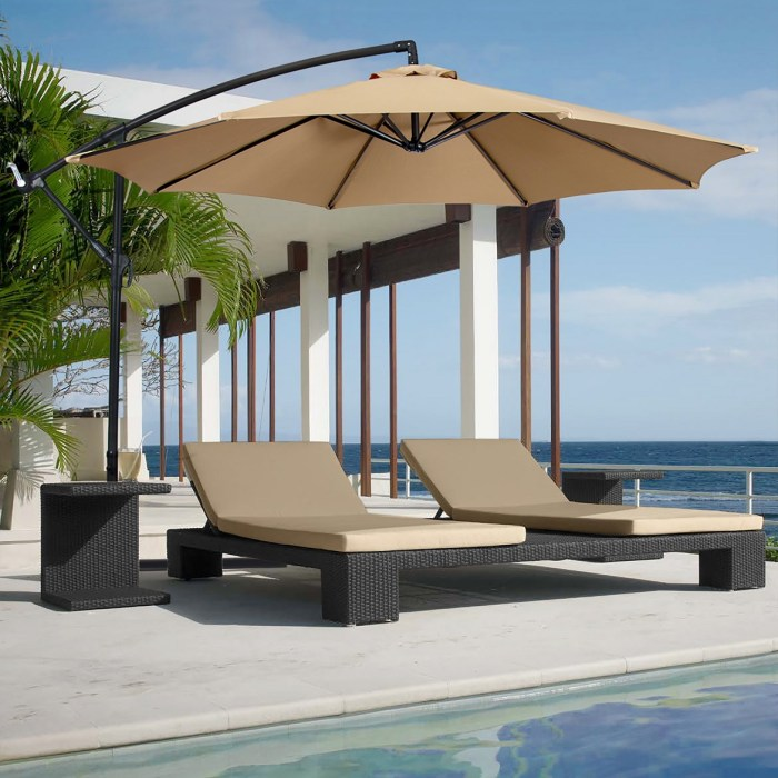 Outdoor Patio Hanging Offset 10′ Umbrella