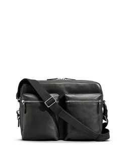 Shinola Leather Zip-Top Messenger Bag