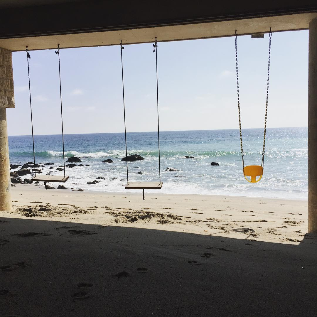 Swings in Paradise on the Beach in Malibu California