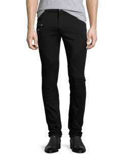 Versace Collection Mens Moto Style Jeans