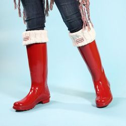 Hunter Original Gloss Red Tall Boots