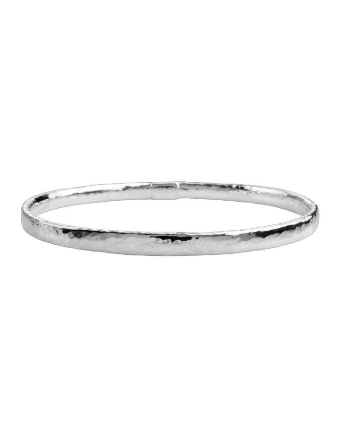 Ippolita Thin Hammered Silver Bangle Bracelet