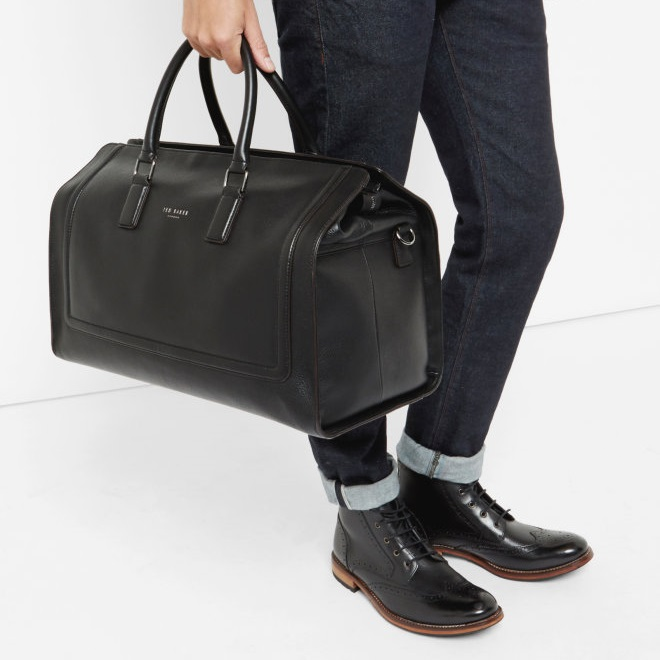 Ted Baker SHALALA Raised edge Leather Holdall Travel Bag