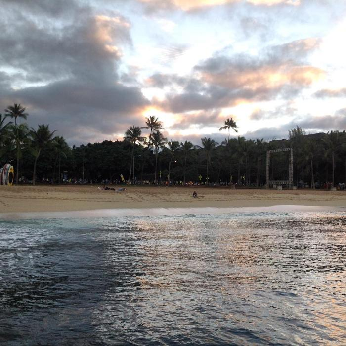 Waikiki Beach Sunrise in Honolulu Hawaii