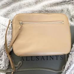 All Saints Fleur De Lis Chain Crossbody Handbag