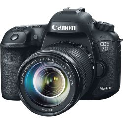 Canon Black EOS 7D Mark II 20.2 Megapixel Digital SLR Camera with 18-135mm Lens