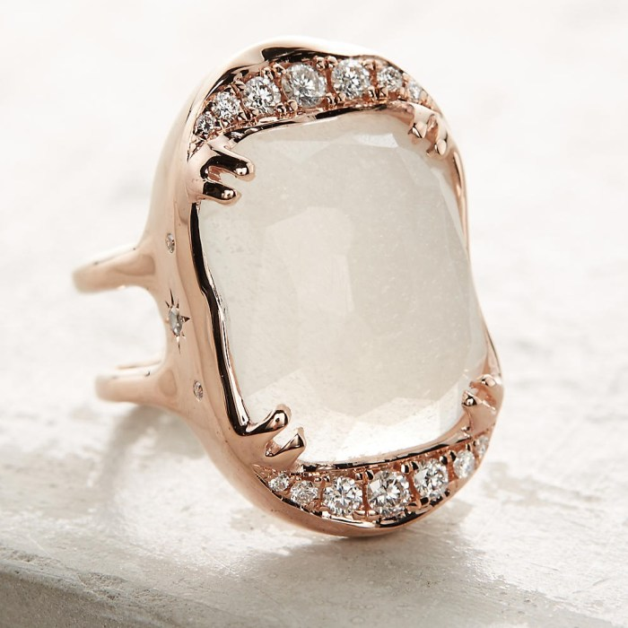 Desiderium Moonstone Ring Handmade in Los Angeles