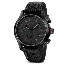Gucci G-Timeless Polished Black PVD Coated 44mm Stainless Steel Watch