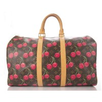 Louis Vuitton Monogram Canvas Cherries Keepall 45 Handbag