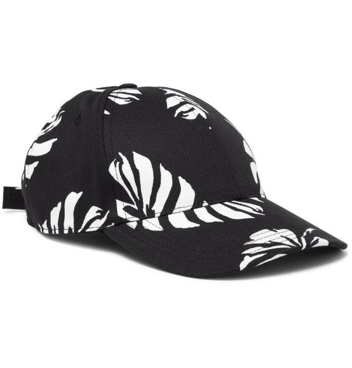 DOLCE & GABBANA Banana-Leaf Print Hat Cotton-Blend Twill Mens Baseball Cap
