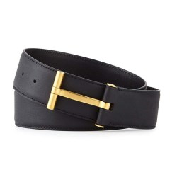 TOM FORD T-Buckle Calf Leather Mens Belt