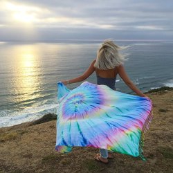 Wanderlust Tie Dye Beach Towel by Sand Cloud – As Seen On Shark Tank