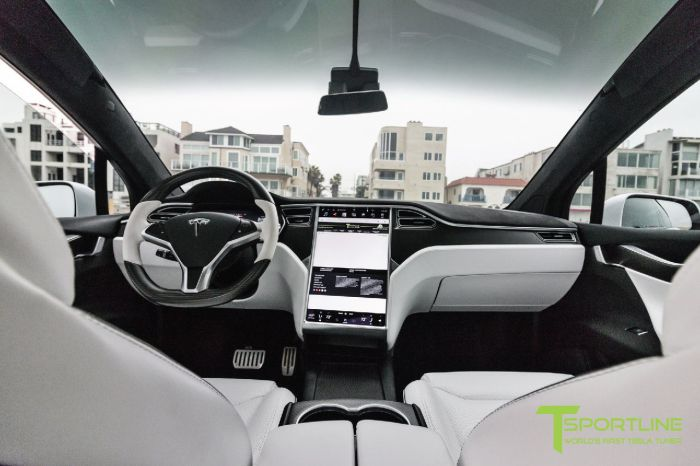 2016 tesla model x p90d pearl white ludicrous customized by t sportline malibu mart. Black Bedroom Furniture Sets. Home Design Ideas