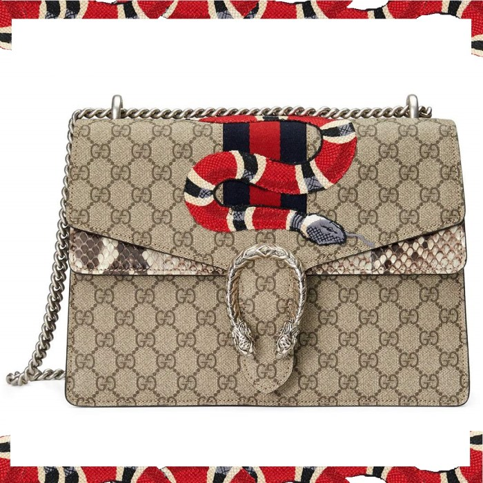 Gucci Dionysus Snake-Embroidered Crossbody Bag