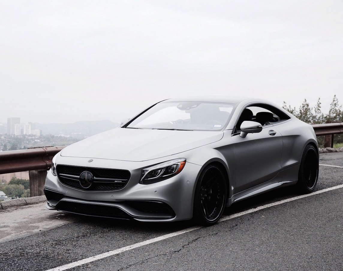 "2015 Mercedes Benz S63 AMG Coupe Custom Wide Body with 22"" GfG Wheels"