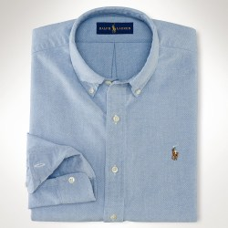Polo Ralph Lauren Slim Fit Cotton Mens Casual Oxford Shirt