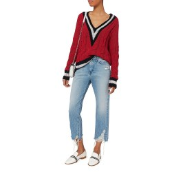 Rag & Bone Emma V-Neck Red Sweater