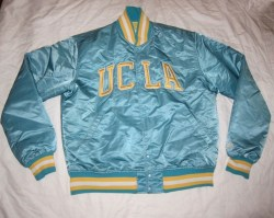 Rare Vintage 80s NCAA UCLA Bruins Satin Mens L Blue VTG Starter Jacket
