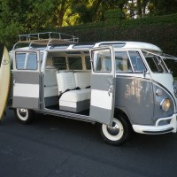 1965 Volkswagen Bus Samba 21 Window Rag Top VW Vanagon Deluxe Trim Surfer Van