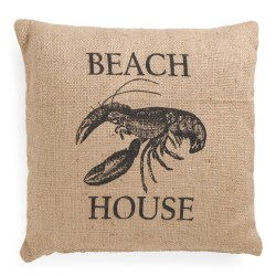 Beach House 20×20 Throw Pillow