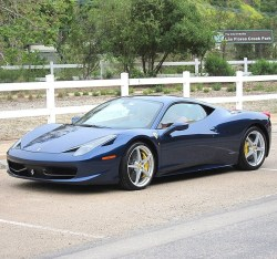 2012 Ferrari 458 Italia Tour de France Blue Sports Car