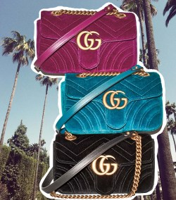 Gucci GG Marmont 2.0 Mini Quilted Velvet Crossbody Bag