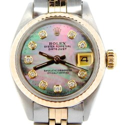 Rolex Datejust Lady 2Tone 14K Gold & Steel Tahitian MOP Diamond Dial Watch