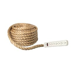 Rope Surge Protector Hand Wrapped Nautical Extension Cord Power Strip