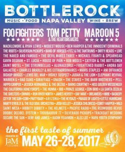 BottleRock Napa Valley 3 night camping for 4 with shuttle passes Music Festival