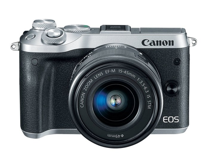Canon EOS M6 24.2 Megapixel Digital Camera with 15-45mm f/3.5-6.3 IS STM Lens Kit