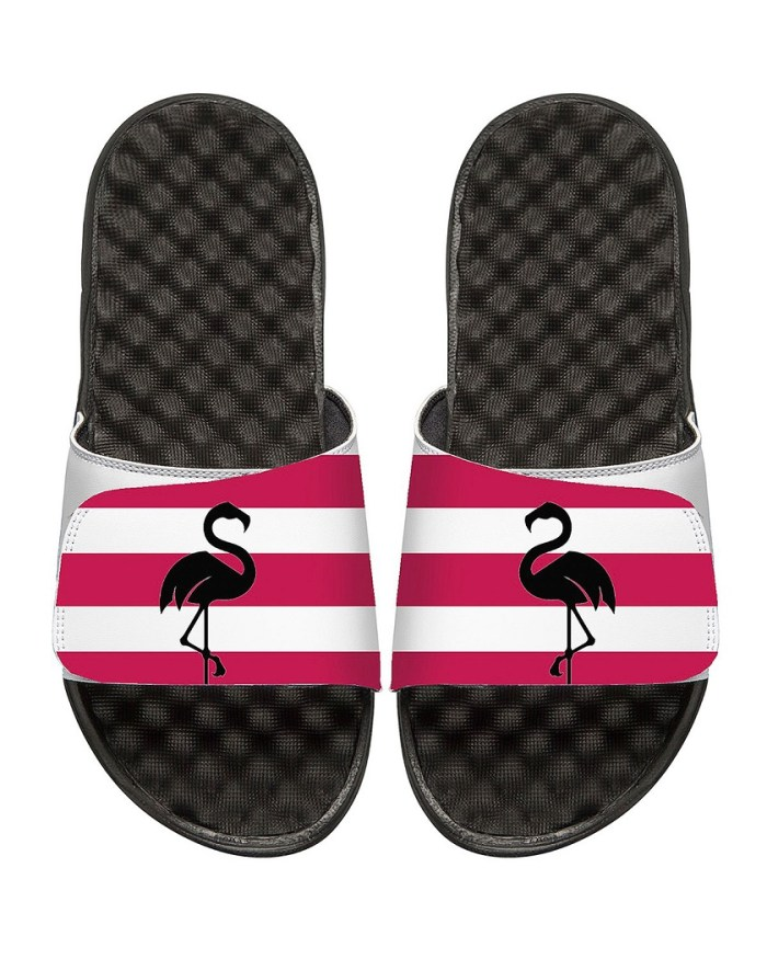 ISlide Striped Flamingo Slide Sandals