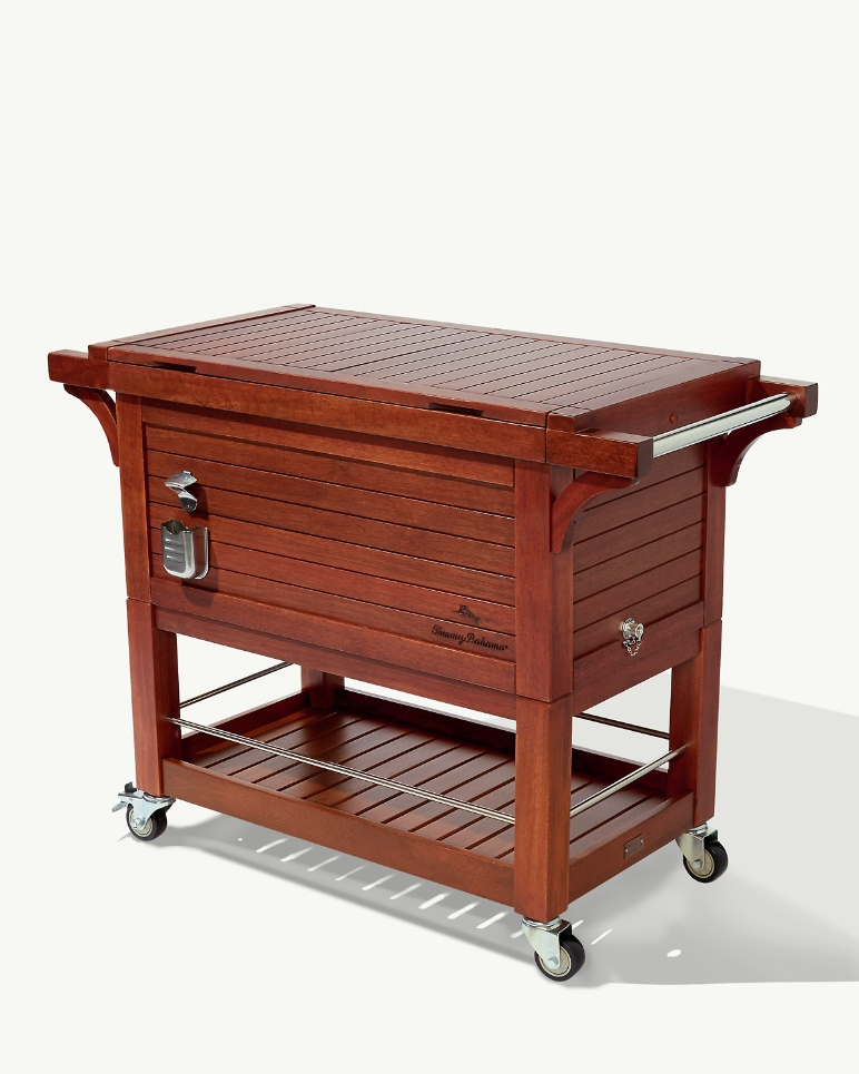 Mahogany Rolling Party Cooler by Tommy Bahama