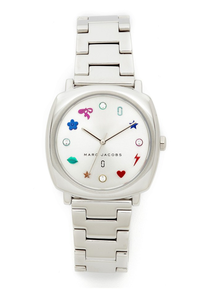Marc Jacobs Mandy Sterling Silver Charms Womens Watch