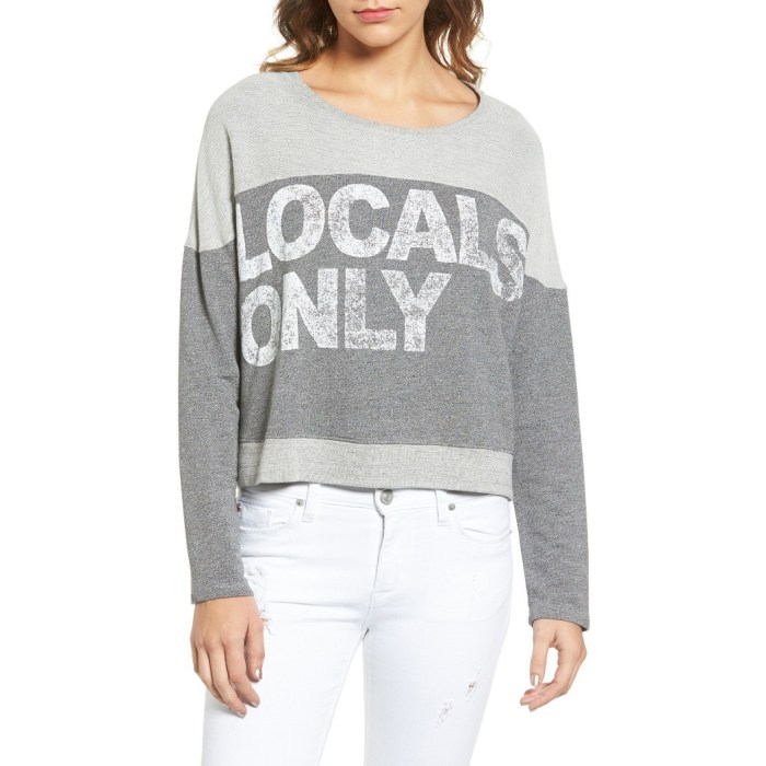 Locals Only Crop Pullover Sweater by Sundry