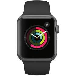 Apple Watch Gen 2 Series 1 42mm Space Gray Aluminum with Black Sport Band