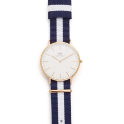 Daniel Wellington Glasgow 40mm Mens Watch with Nato Strap