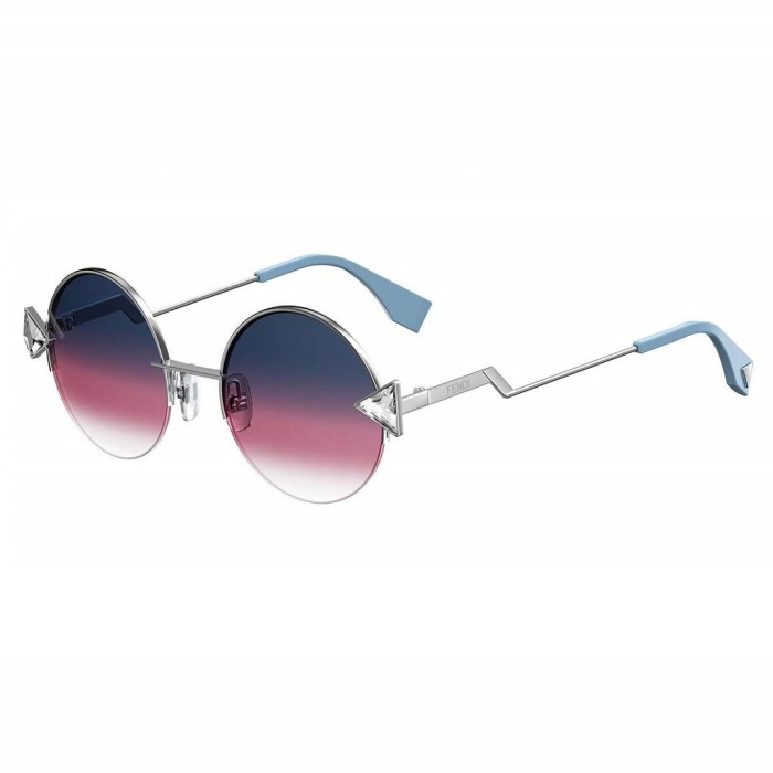Fendi Rainbow Womens Round Sunglasses