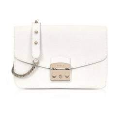Furla Petalo Metropolis Small Leather Shoulder Bag