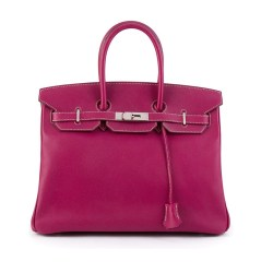 Hermès Vintage Toska Pink Leather Birkin 35 Tote Bag