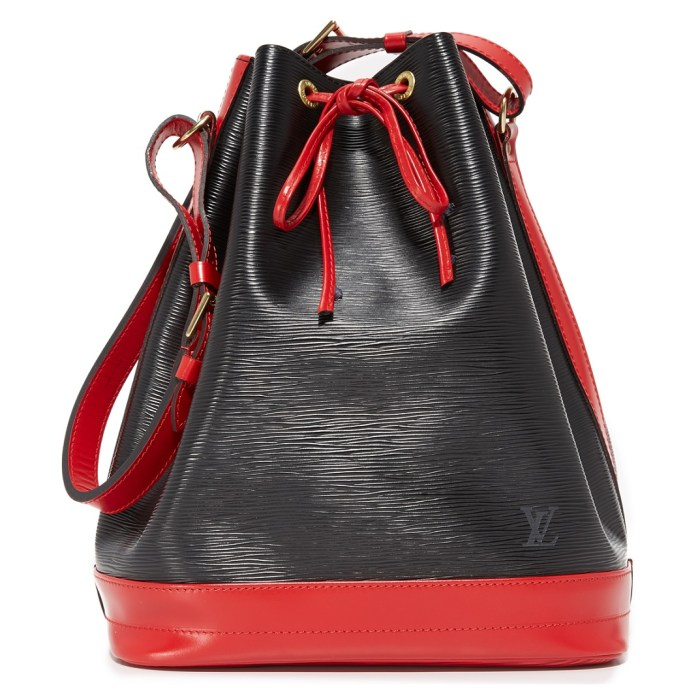 Louis Vuitton Large Epi Noe Black & Red Vintage Bucket Bag