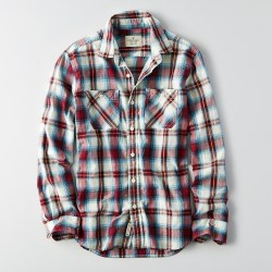 Classic Plaid Mens Workwear Shirt by AEO