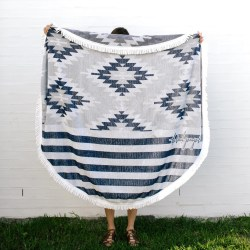 The Beach People Montauk Roundie Beach Towel Blanket